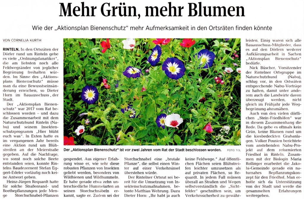 Artikel aus der Schaumburger Zeitung vom 05.04.2019