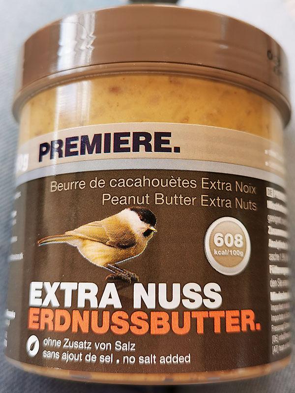 Erdnussbutter für Vögel